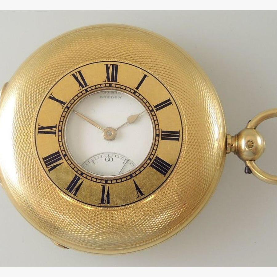 Gold hunter pocket watch