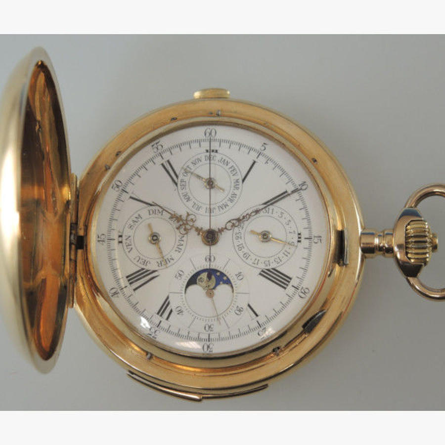 Multi complication pocket watch