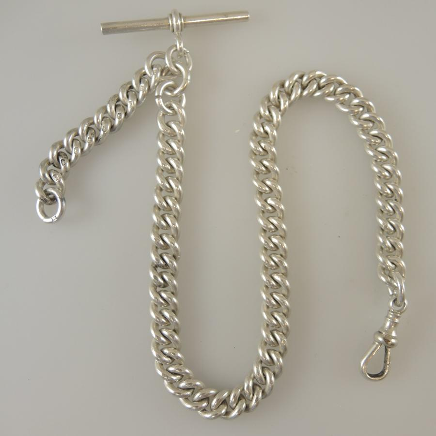 English silver watch chain