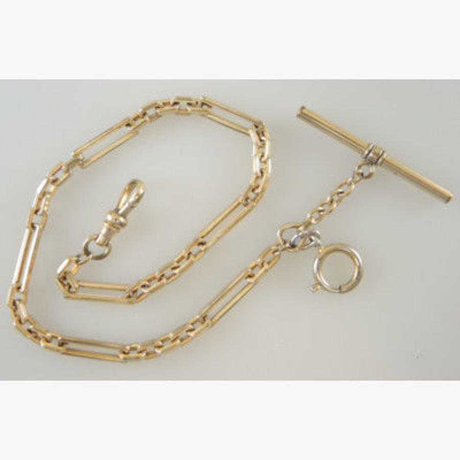 Gold plated and gilt metal watch chains
