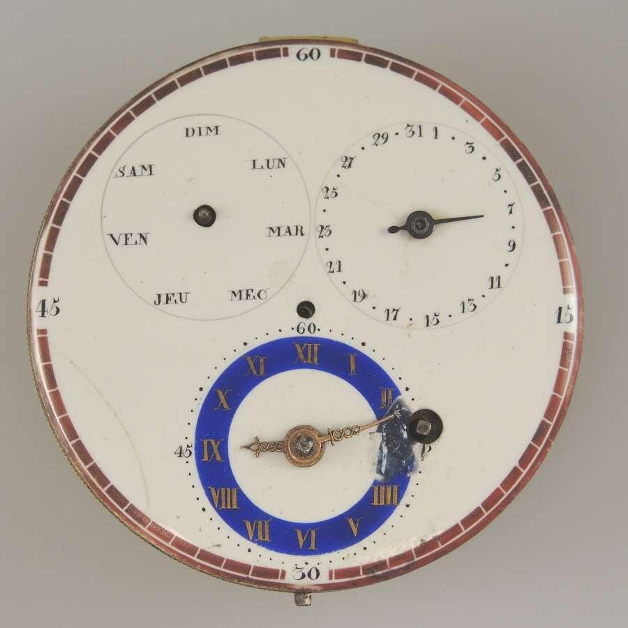 Swiss pocket watch dials