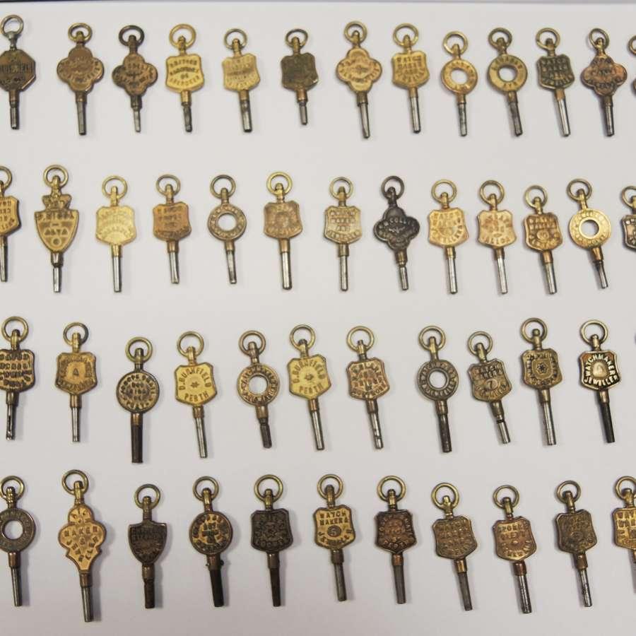Watch keys by number / advertising keys / keys for restoration