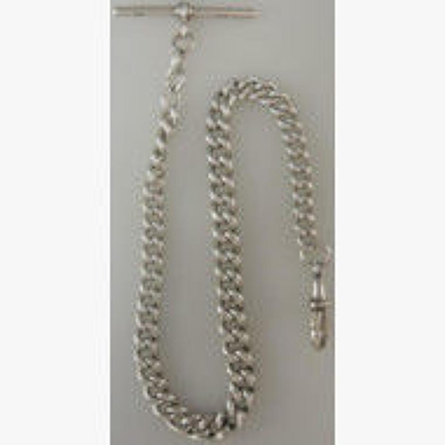 English Silver Single Watch Chain. Birmingham 1903