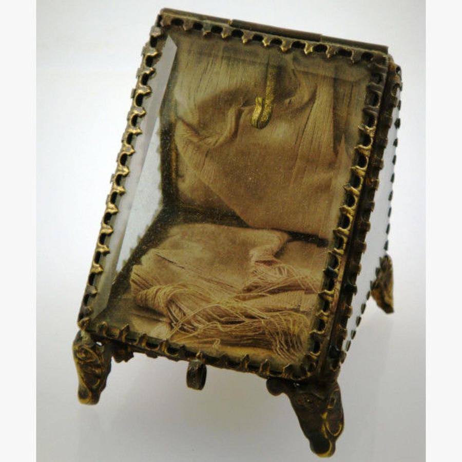 Glass Watch Casket Watch Stand. c1870