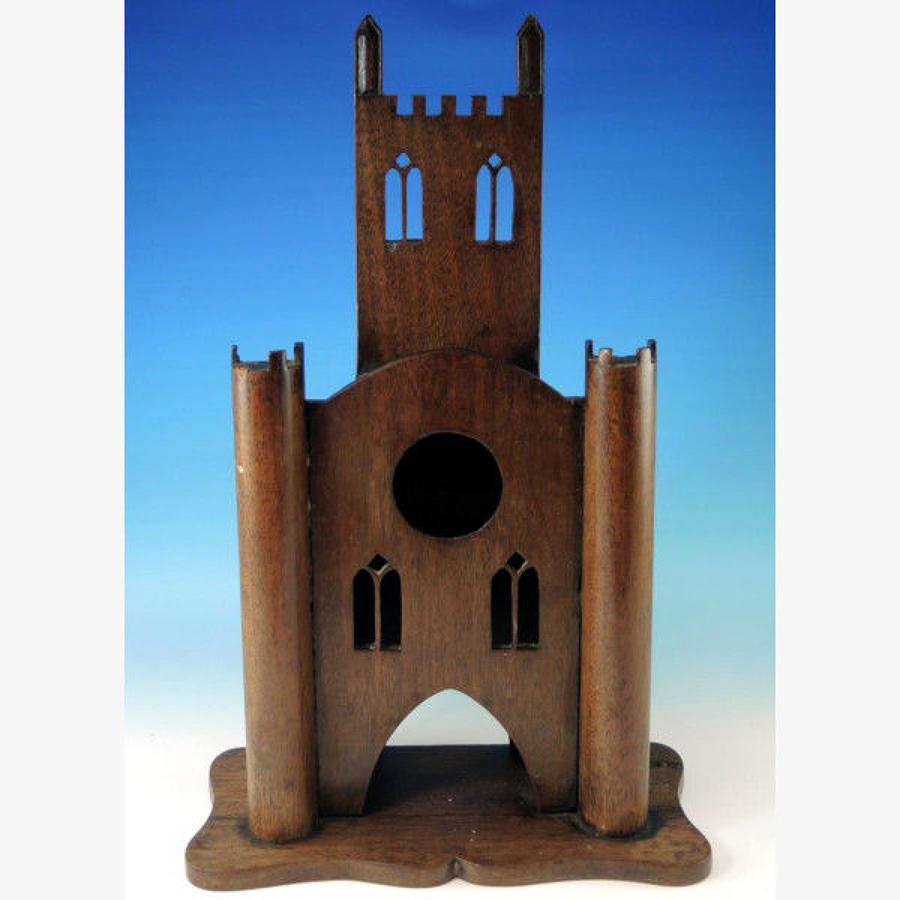 Massive Wooden Castle Stand. Circa 1880