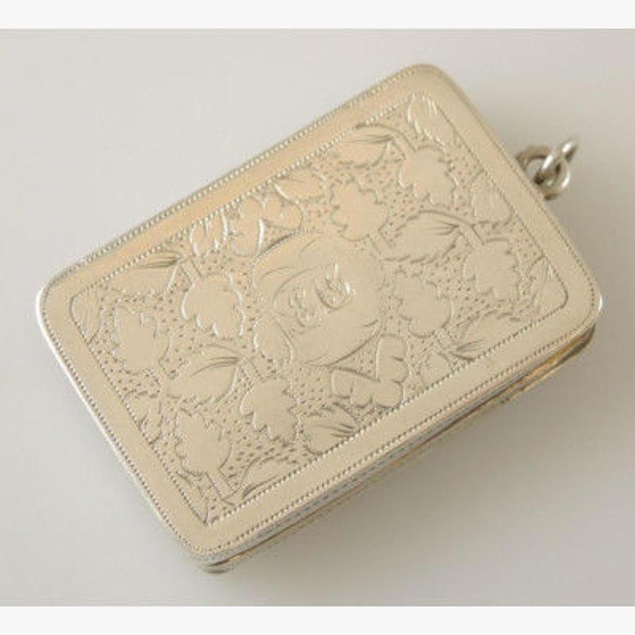 English Silver Vinaigrette. Birmingham 1810