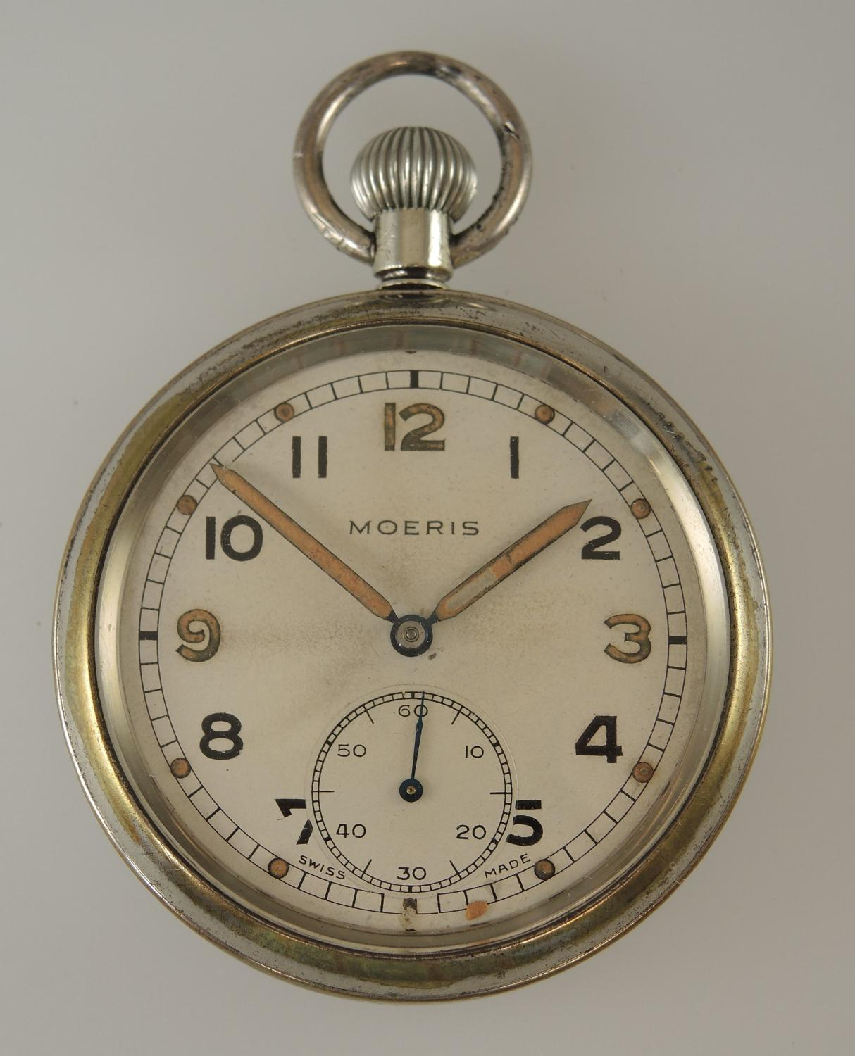 Military WWII MOERIS Pocket Watch. c1940