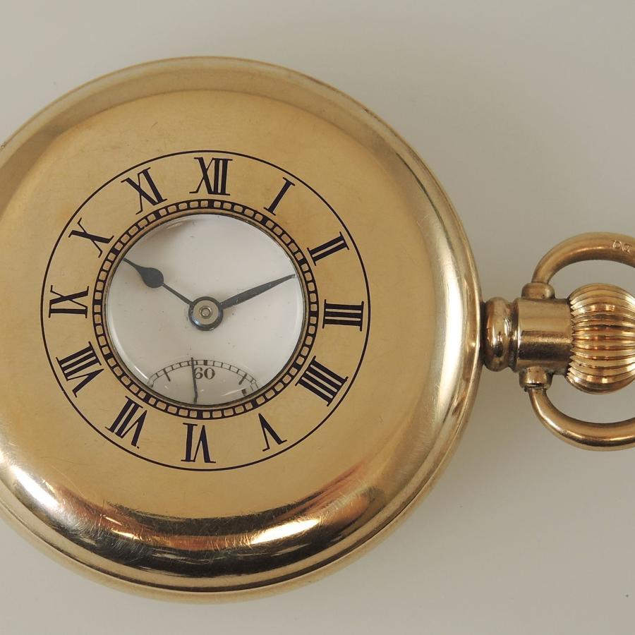 Good Gold plated CYMA Half hunter pocket watch c1930