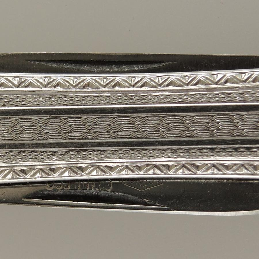 Solid PLATINUM on 14K White Gold Penknife c1910