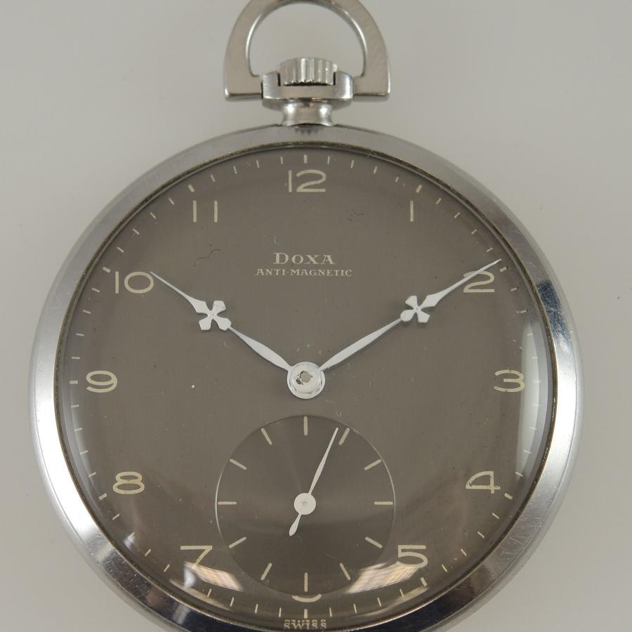 Stylish Grey Dial DOXA vintage pocket watch c1930