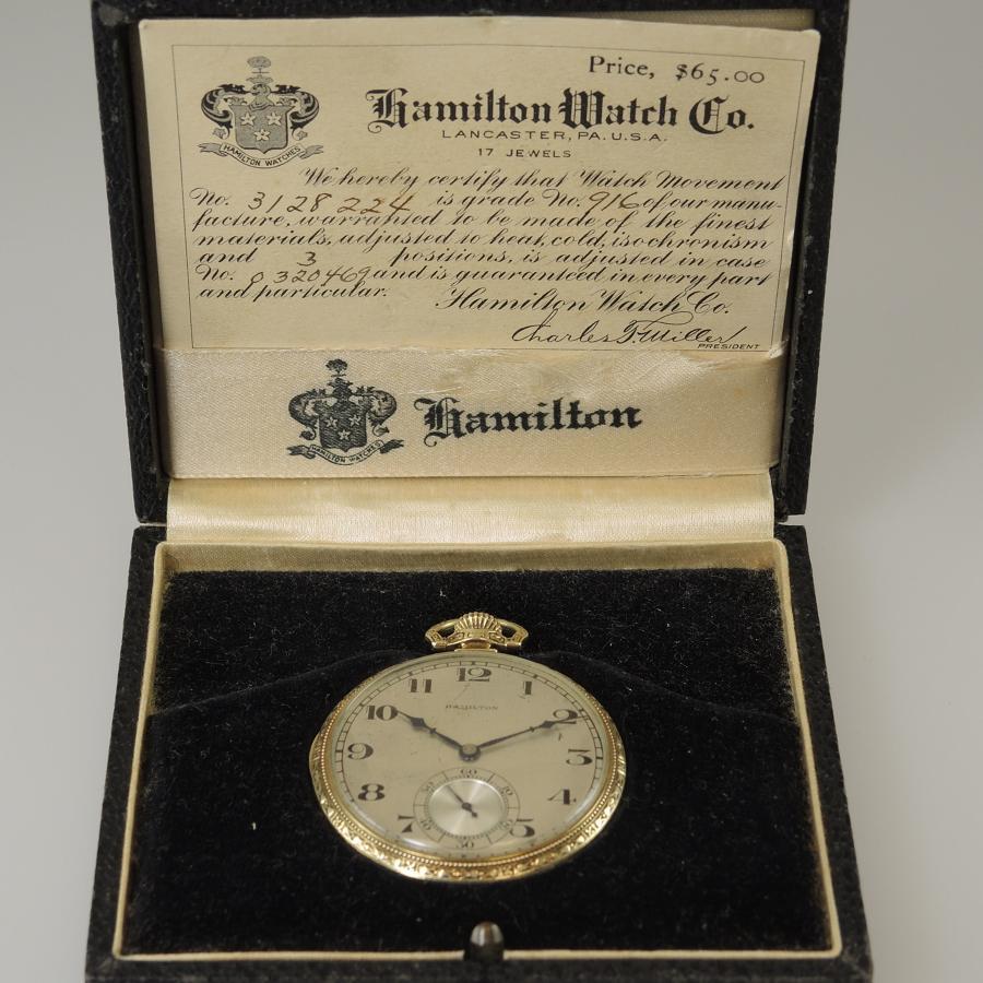 Hamilton 17 Jewel pocket watch with Original Box c1938