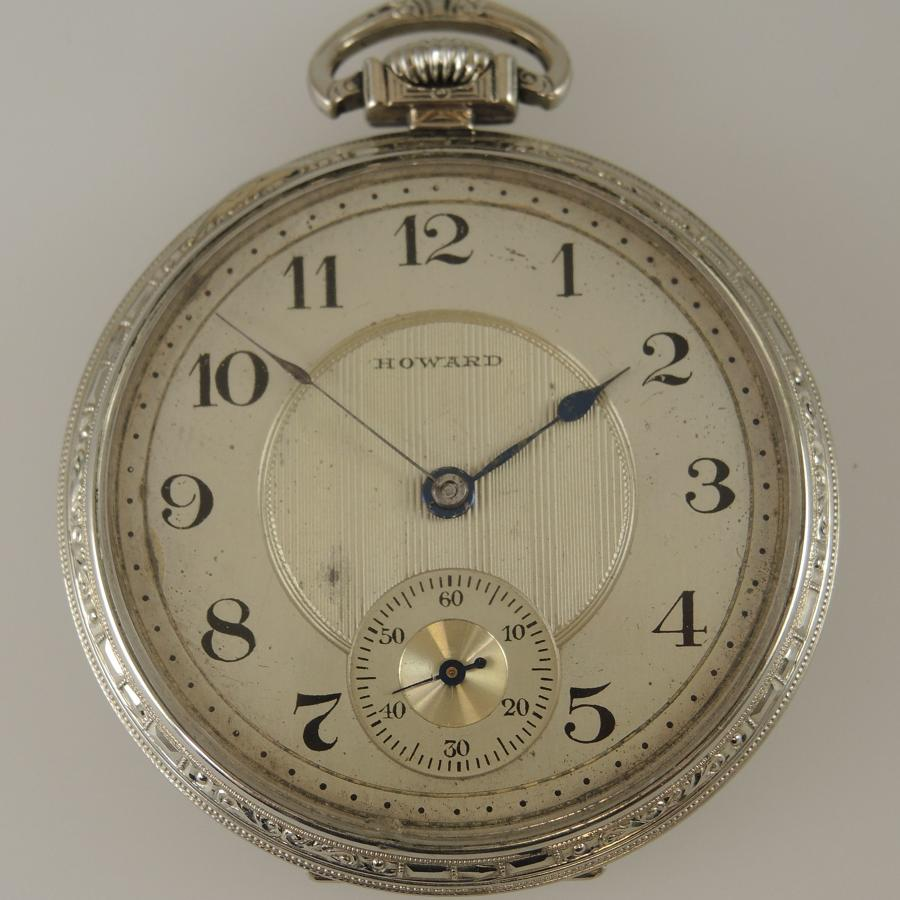 White Gold Filled 19 Jewel E.Howard Watch Co pocket watch c1912