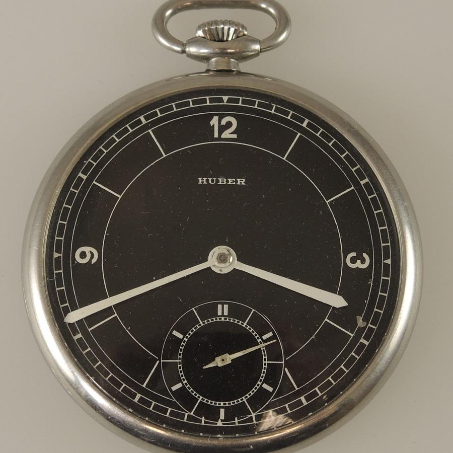 Stylish Vintage pocket watch by Huber c1930