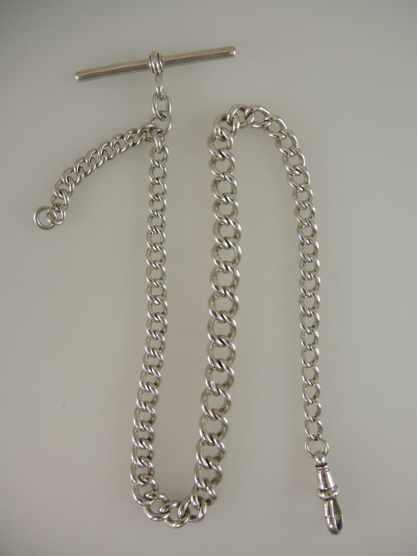 English Silver Watch chain Birmingham 1921