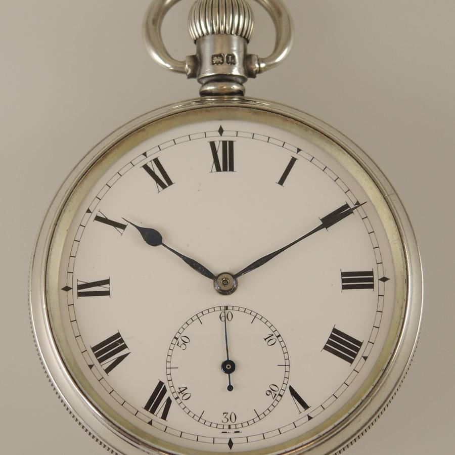 English silver vintage pocket watch c1936