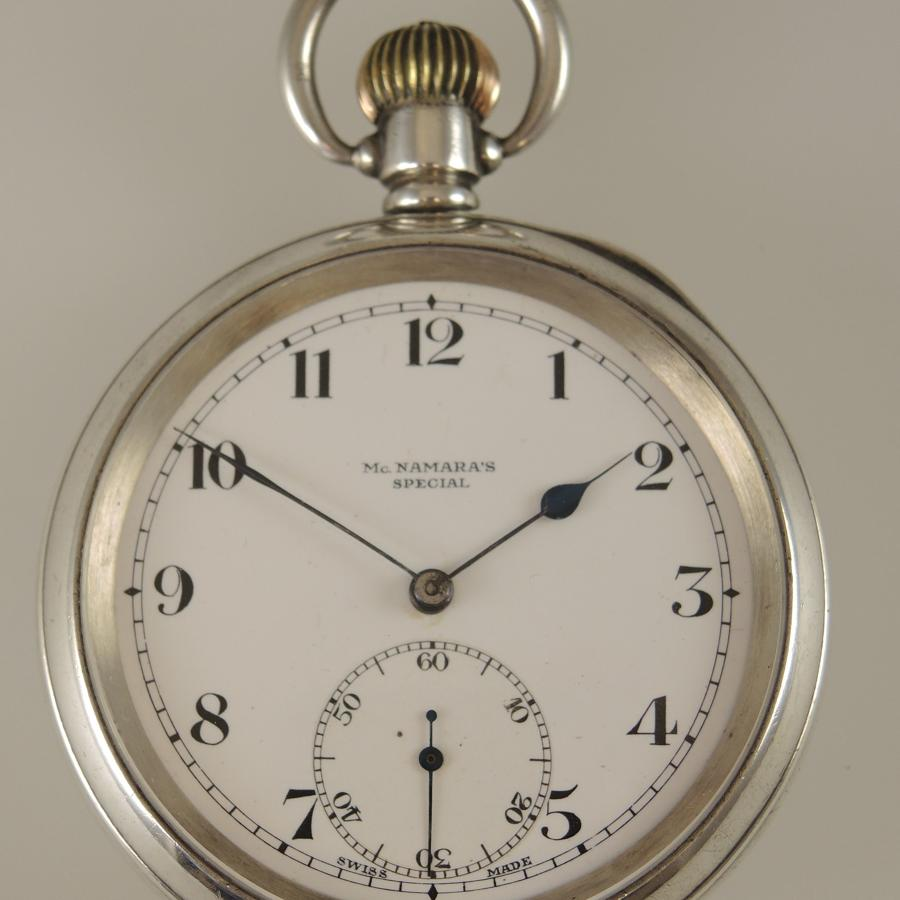 English silver antique pocket watch c1912