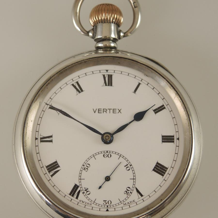 English silver antique pocket watch c1919