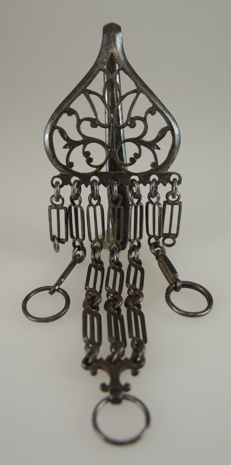 Early Cut steel chatelaine c1750