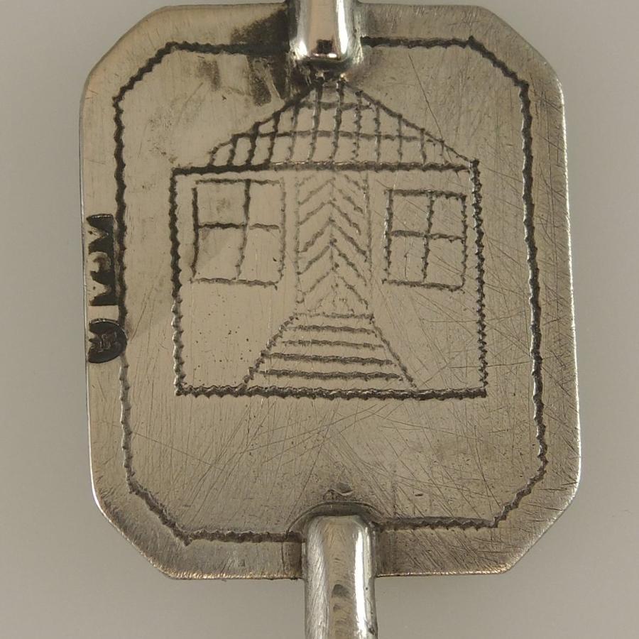 Early Silver Dutch pocket watch key c1830