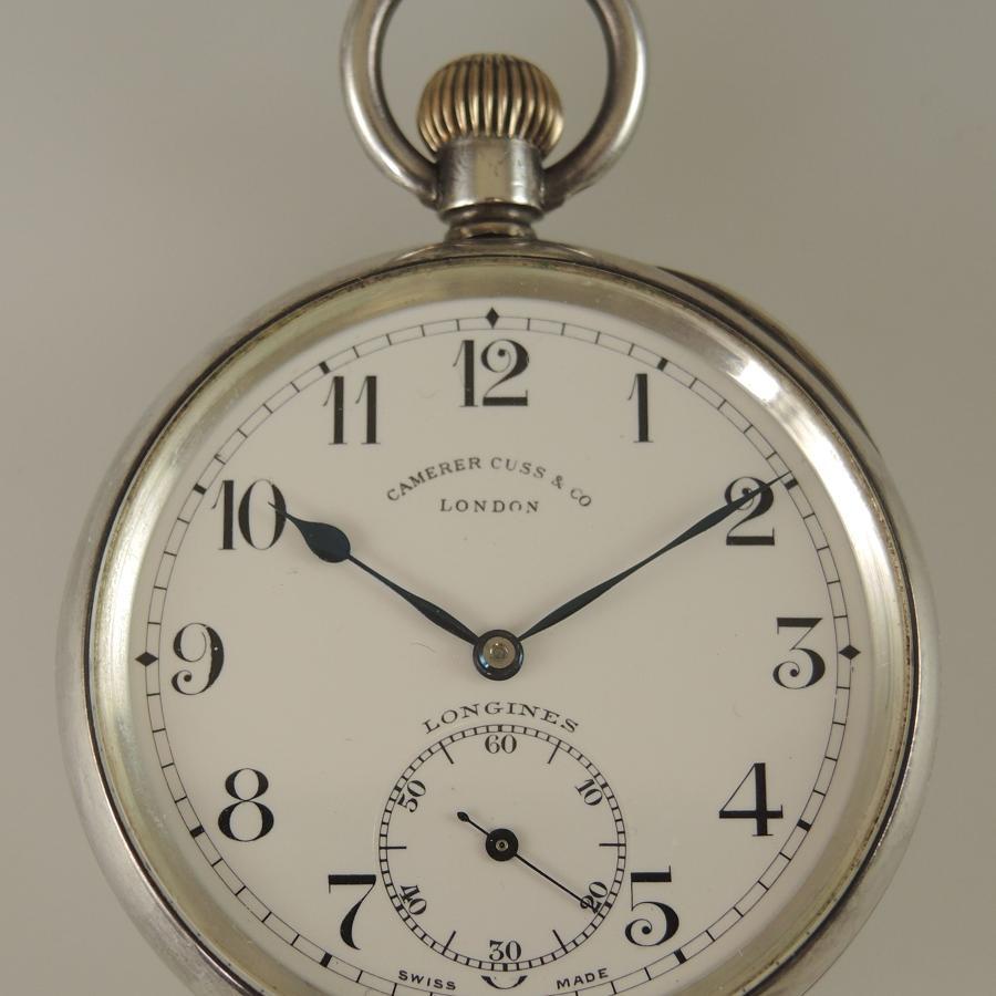 Silver LONGINES vintage pocket watch c1927