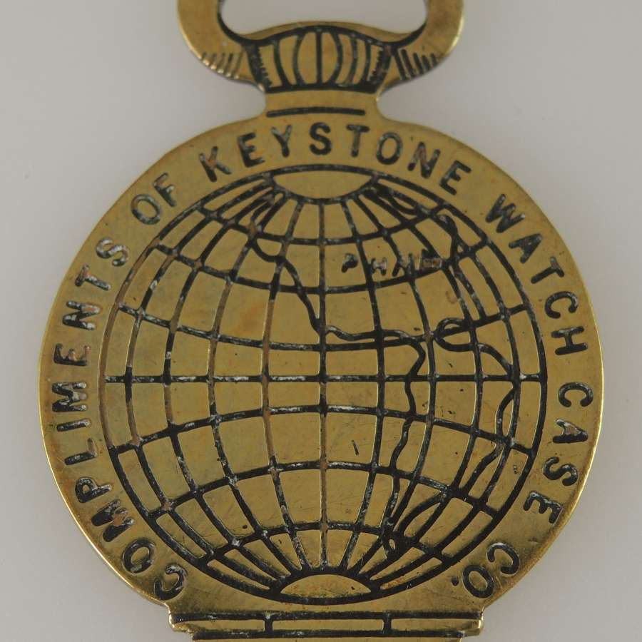 Rare promotional watch case opener by Keystone case co. C1893