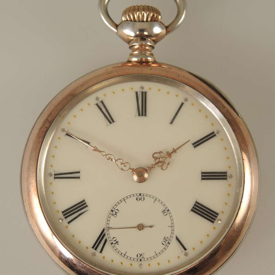 Silver and gold cased ZENITH vintage pocket watch c1910