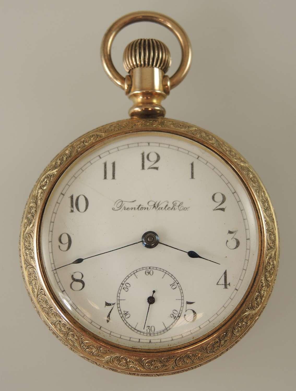 18 size 7 Jewel TRENTON Watch Co pocket watch c1895