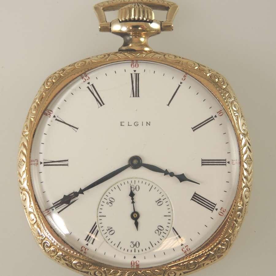 Vintage pocket watch by Elgin. Circa 1922