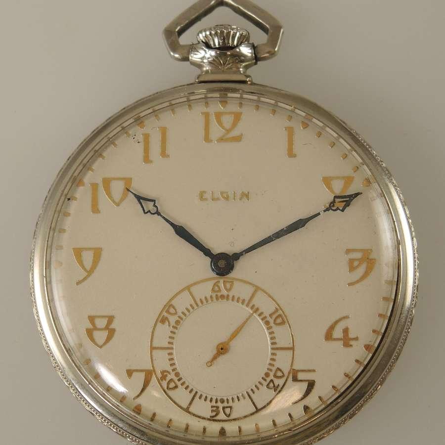 Art Deco Style pocket watch by Elgin. Circa 1925
