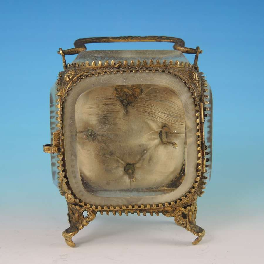 French Glass Casket watch stand. For Hunters and Half hunters c1830