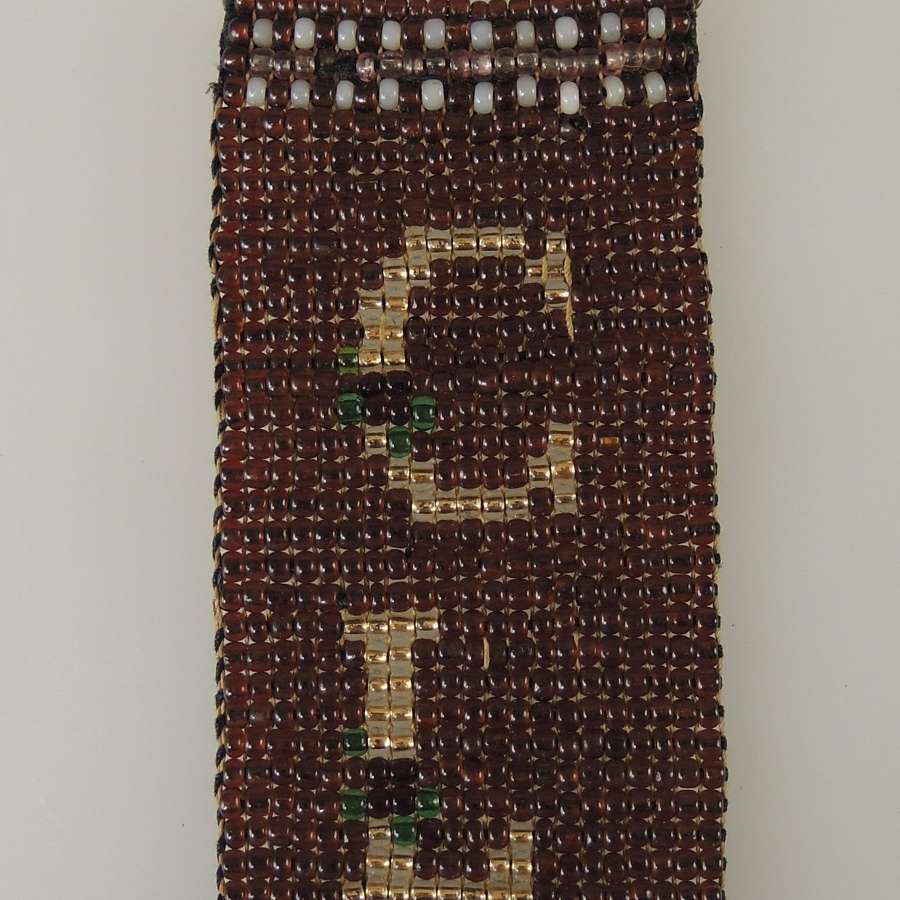 Rare BEAD WORK Watch fob c1880
