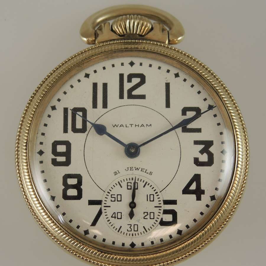 16 size 21 Jewel Waltham 16-A pocket watch.c1949