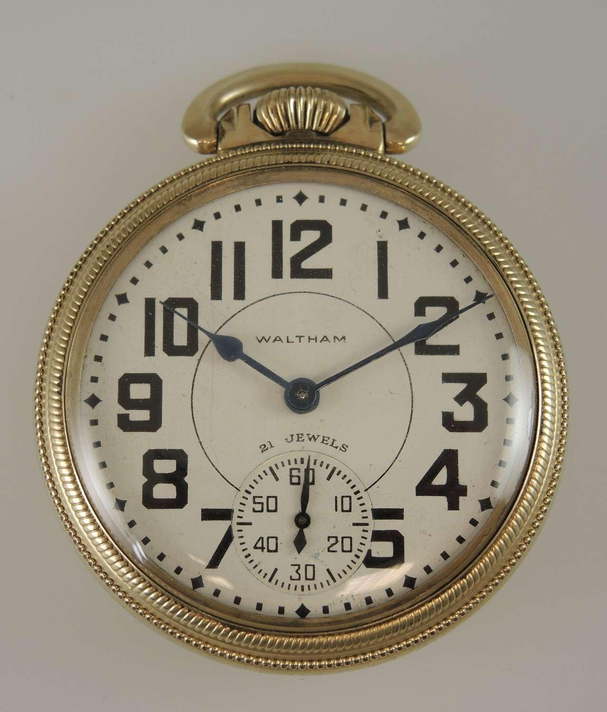 16 size 21 Jewel Waltham 16-A pocket watch.c1949