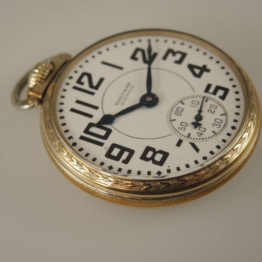 16 size 21 Jewel Waltham Riverside pocket watch.c1936