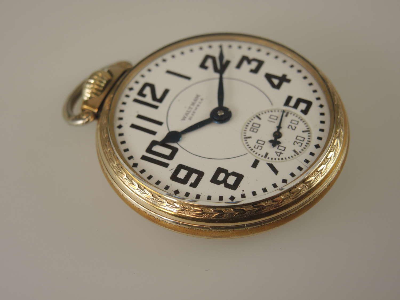 16 size 21 Jewel Waltham Riverside pocket watch.c1936