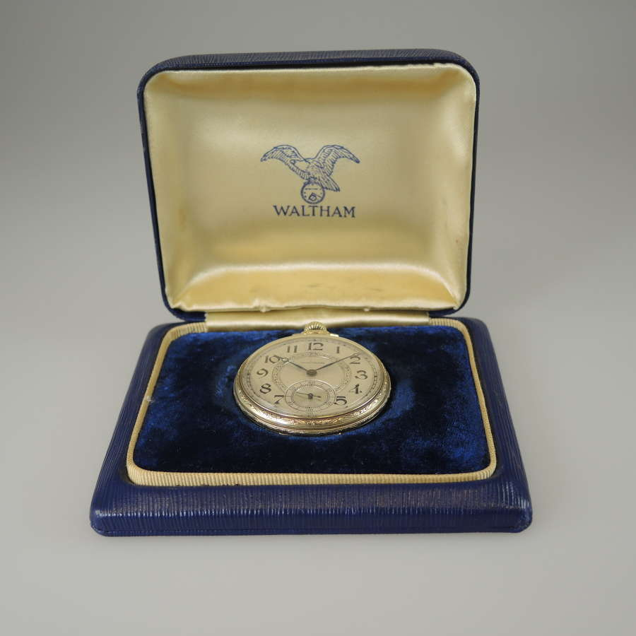 Vintage pocket watch by Waltham with Original Box c1931