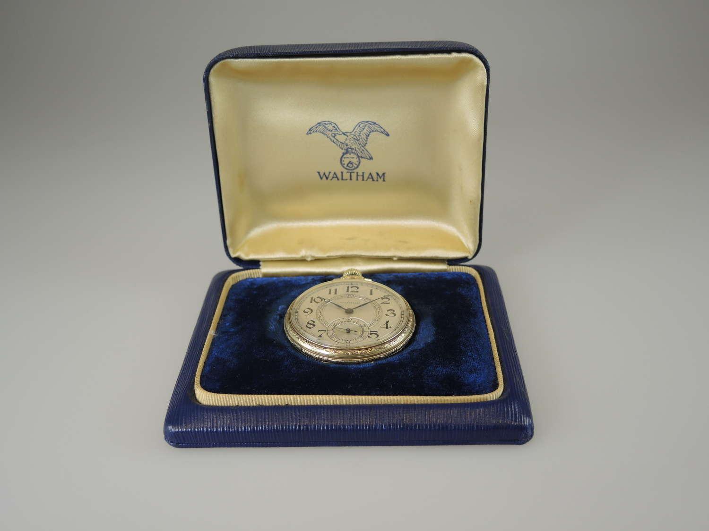 Vintage pocket watch by Waltham with Original Box c1931