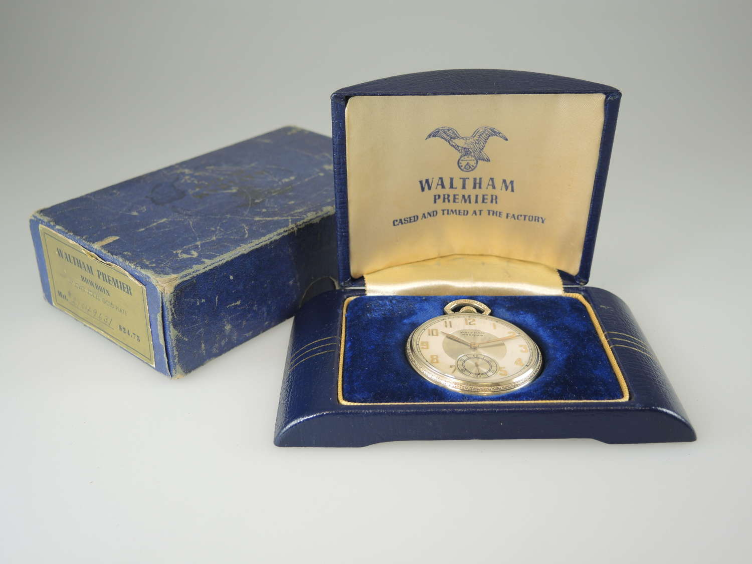 17 Jewel Waltham Premier with Original Box and cardboard outer c1937