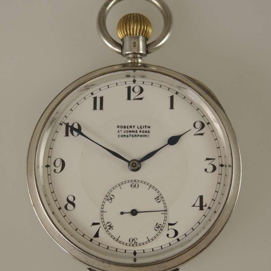 Silver vintage pocket watch c1919