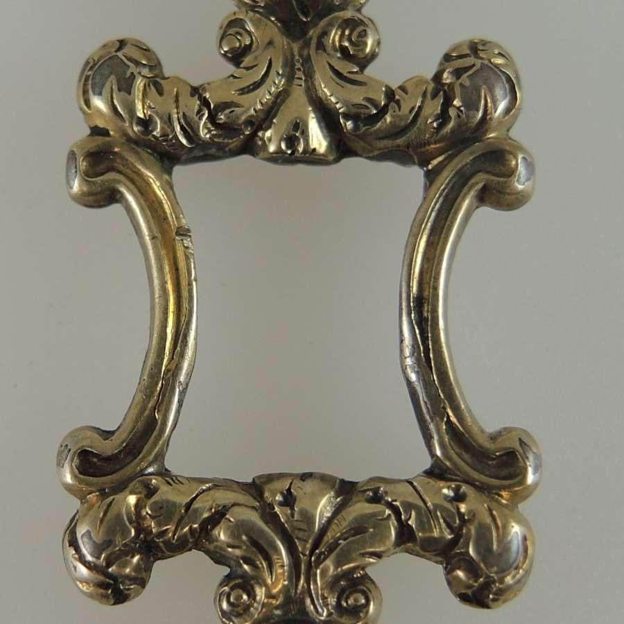 Fancy Gold cased Victorian pocket watch key c1850
