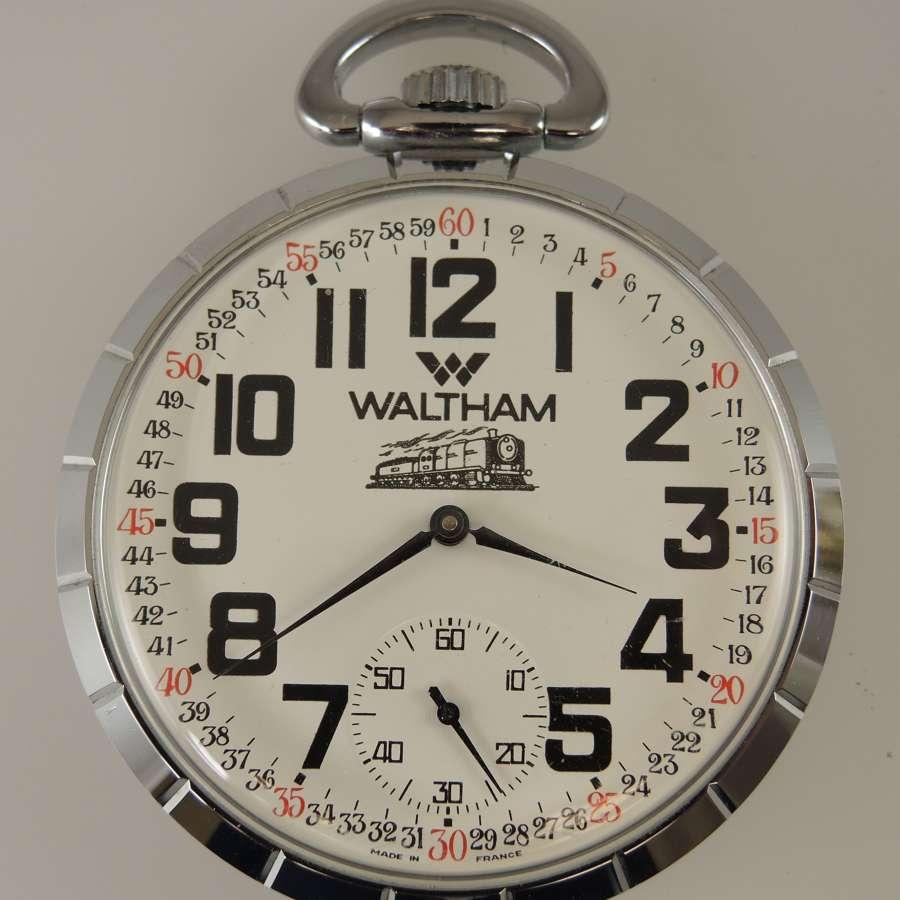 Unusual French Waltham pocket watch c1960