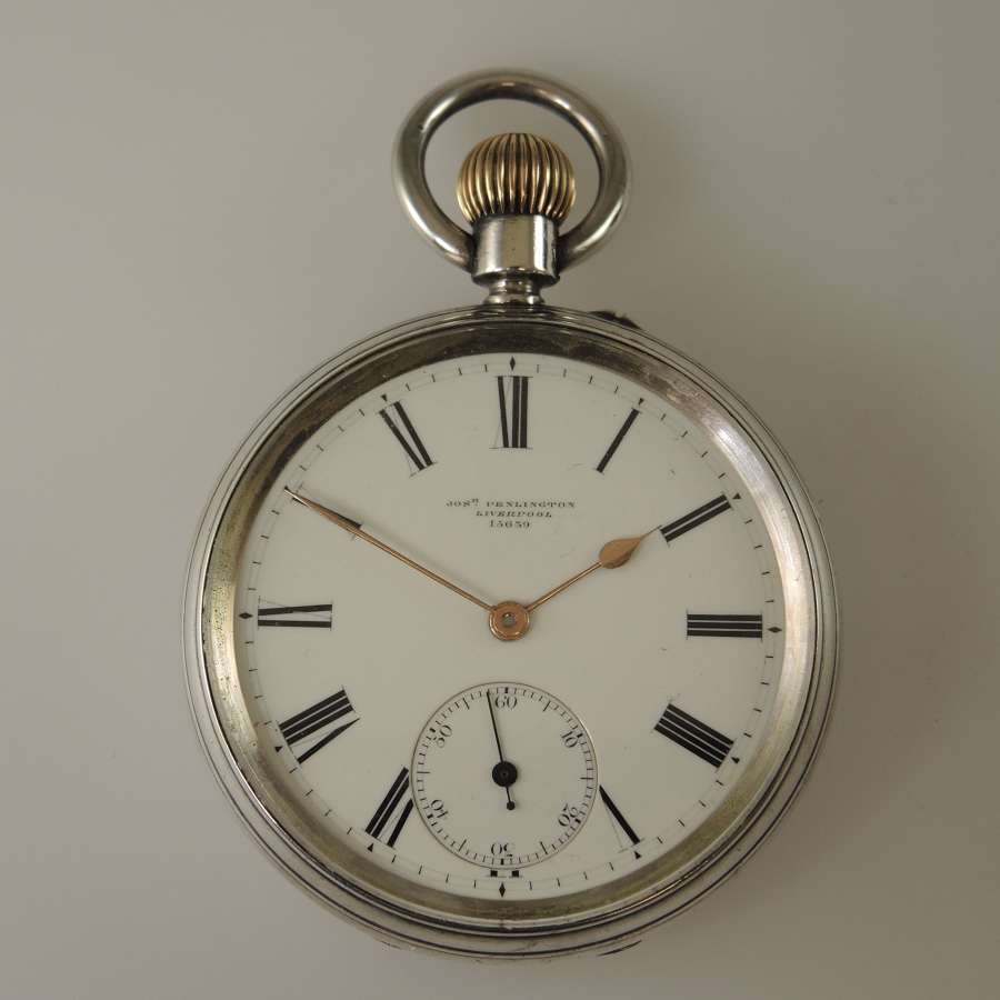 Top Quality English silver pocket watch by Jos Penlington c1882