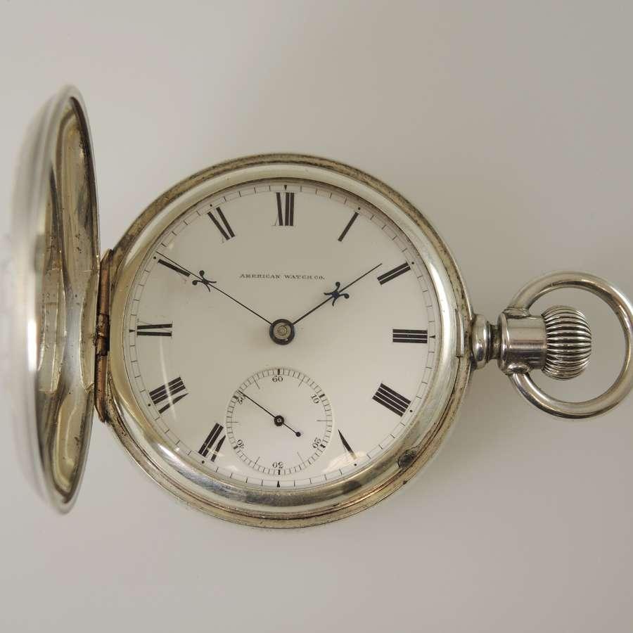Rare Waltham Appleton Tracy Model 1857 Silver Hunter c1874