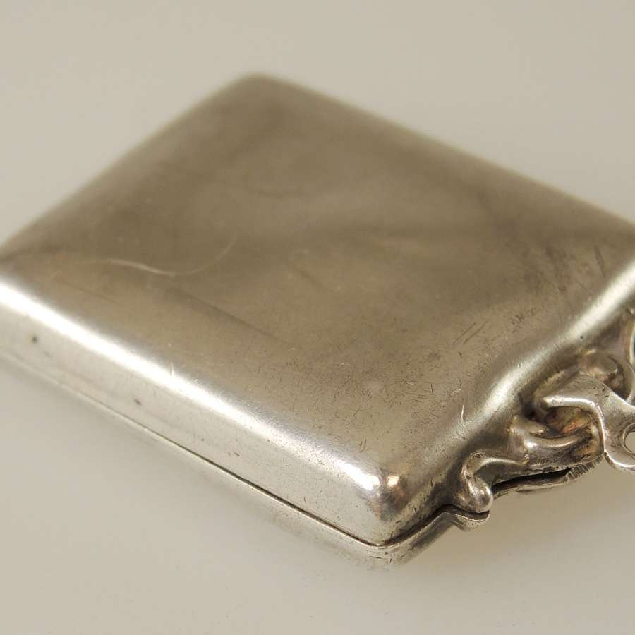 English silver Stamp case c1912