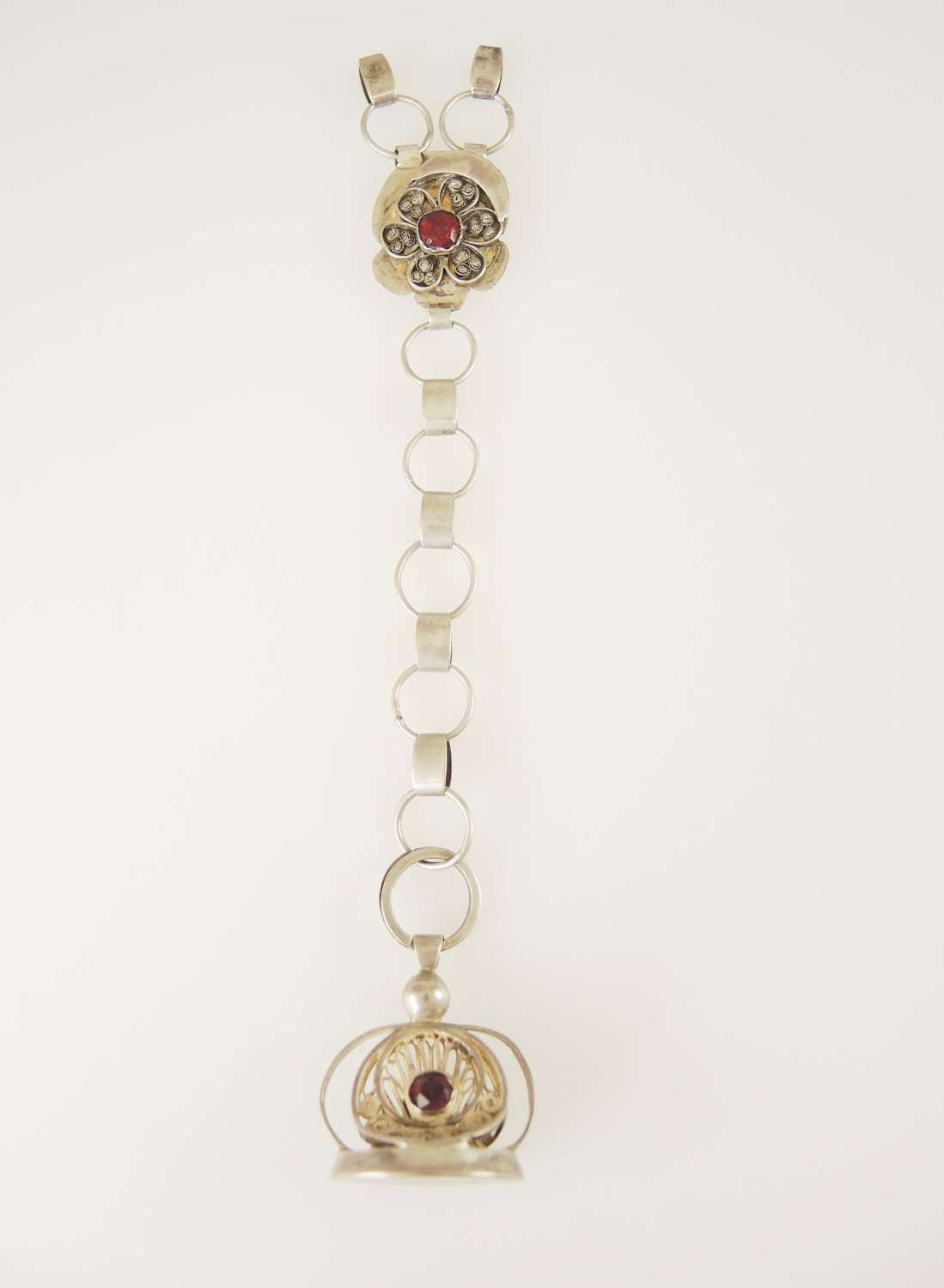 Dutch silver Seal and chatelaine c1850