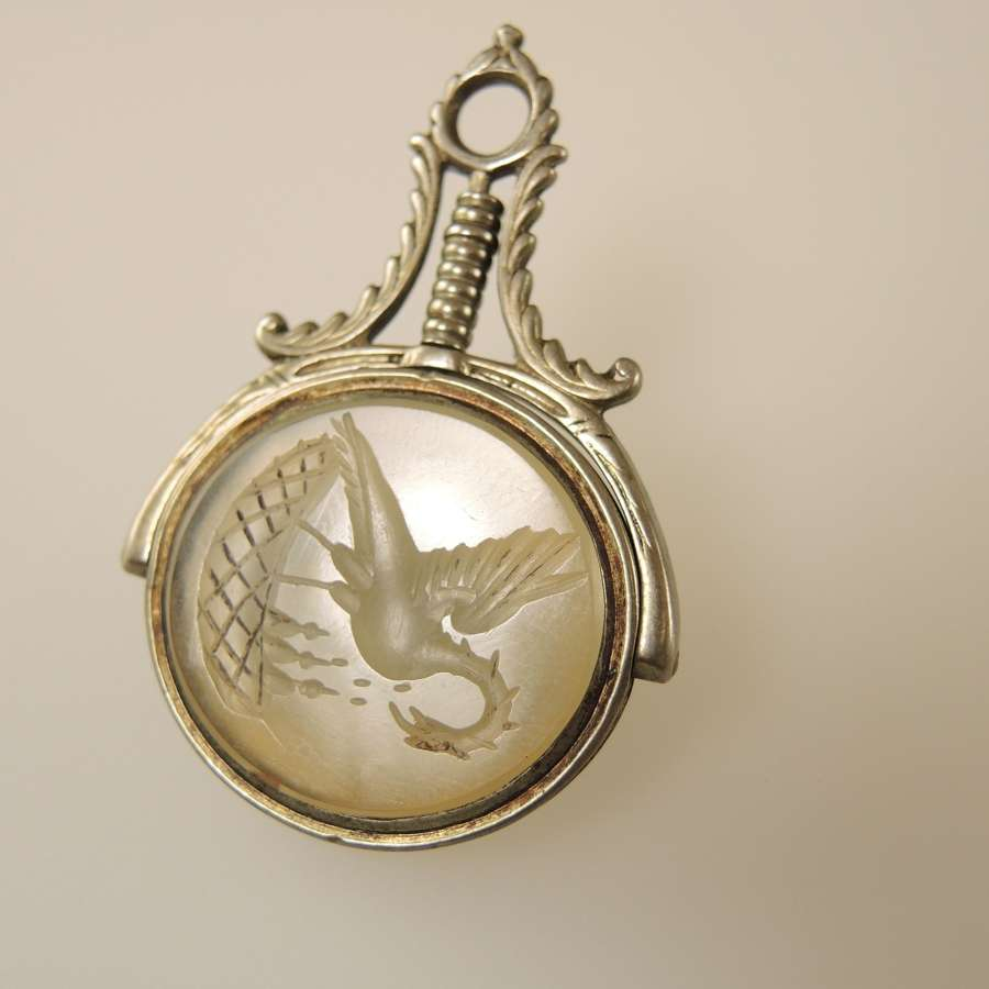 Georgian DRAGON INTAGLIO Swivel Fob c1790