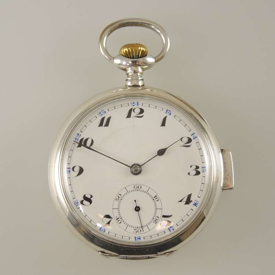 Silver minute repeater pocket watch c1910