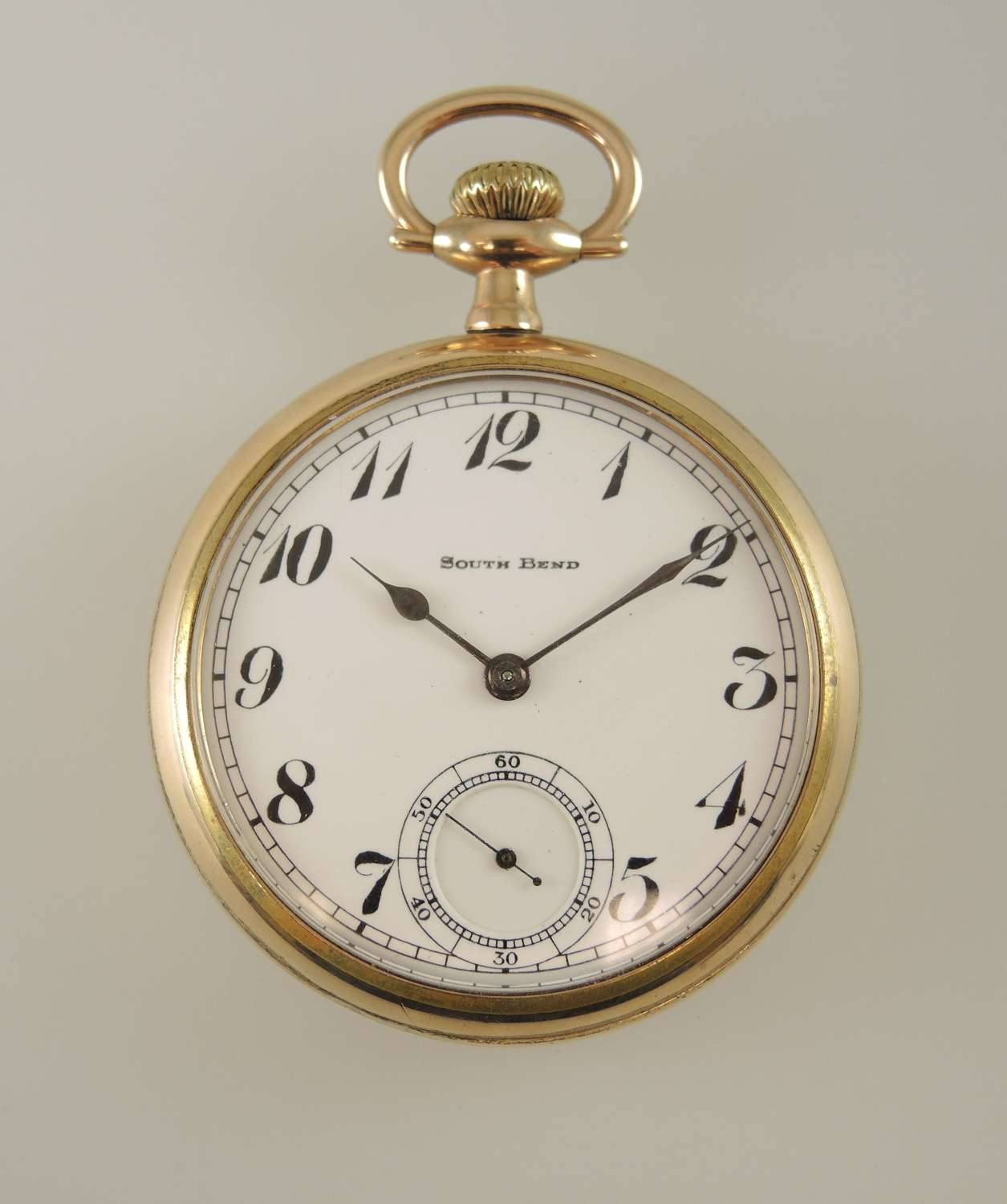 16s 17J South Bend The Studebaker 223 RR grade pocket watch. c1912