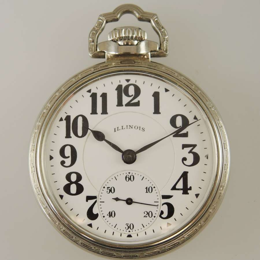 16s 23J Bunn Special 60 Hour Mark 1 pocket watch c1924