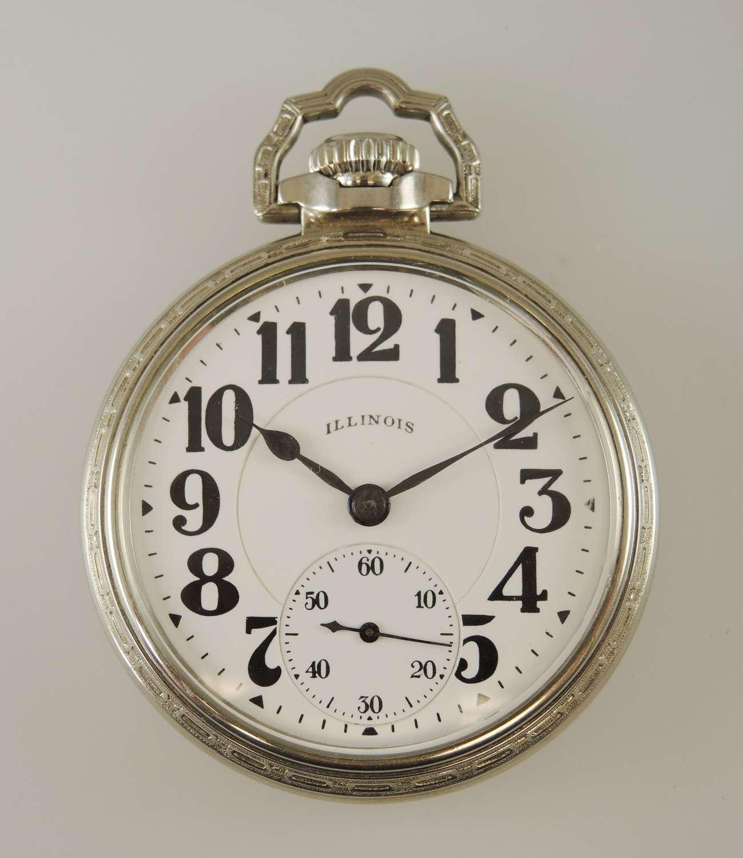 16s 23J Bunn Special 60 Hour Mark 1 pocket watch c1924